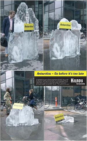 Publicidad BTL - Deshielos de la Antartida