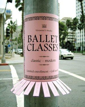 Publicidad BTL - Clases de Ballet