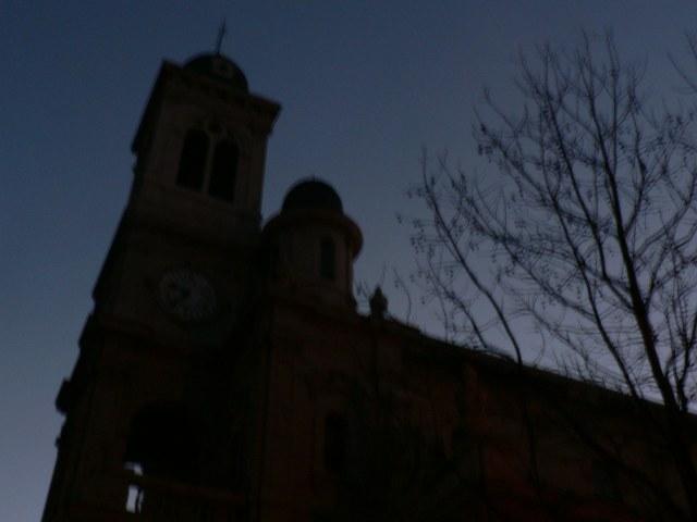 Foto atardecer iglesia